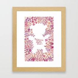 Little Cub (Rose) Framed Art Print