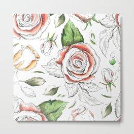 Sweet Roses Metal Print