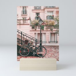 Bike in a Lovely Town Pink City Photography  Mini Art Print
