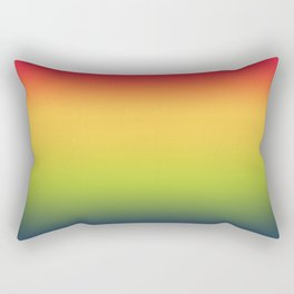 Abstract Colorful Tropical Blurred Gradient Rectangular Pillow
