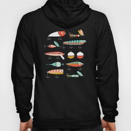 Fishing Lures Green Hoody