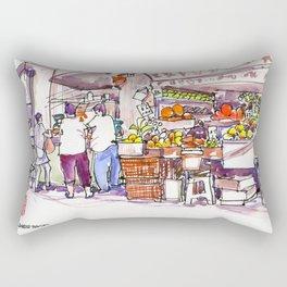 20170309a Chinatown Fruitseller Rectangular Pillow