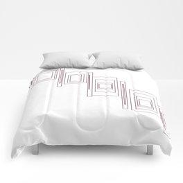 Chic design blocks, white Comforters