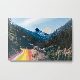 1960's Style Mountain Collage Metal Print