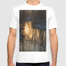 Early Morning Winter Mens Fitted Tee MEDIUM White