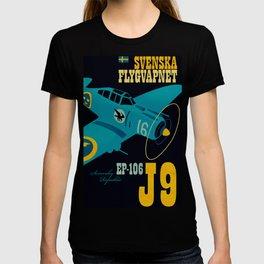 Swedish EP-106 airplane poster ShreddyStudio Dennis Weber T-shirt