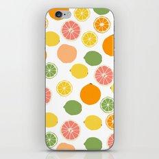 Orange Grapefruit Lemon Lime Citrus Pattern iPhone & iPod Skin