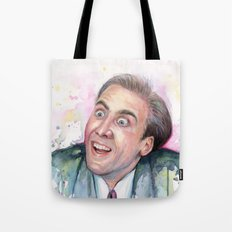 Nicolas Cage You Don't Say Geek Meme Nic Cage Tote Bag