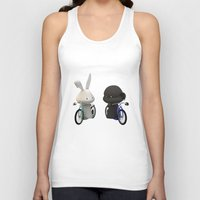 bikes Tank Tops featuring bikes by coffee & fried chicken