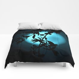 Heavenly Vines in Teal Comforters