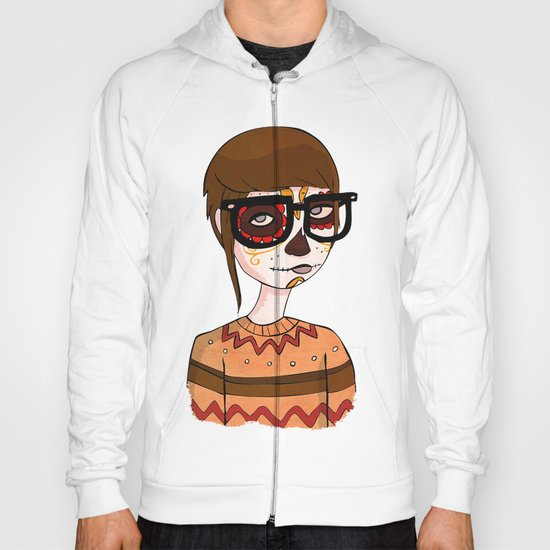 Day of the Dead Hipster Hoody