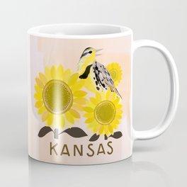 Kansas State Bird and Flower Coffee Mug
