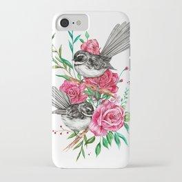 Floral Piwakawakas iPhone Case