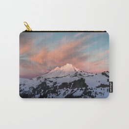 Mount Baker Mountain Adventure Sunset - Nature Photography Carry-All Pouch