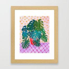 Split Leaf Philodendron Houseplant Painting Framed Art Print
