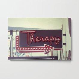 Therapy Metal Print