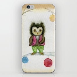 cute owls iPhone Skin