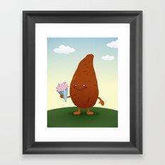 Sweet Potato Framed Art Print