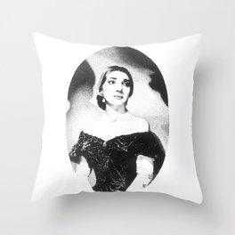 Maria Callas Throw Pillow