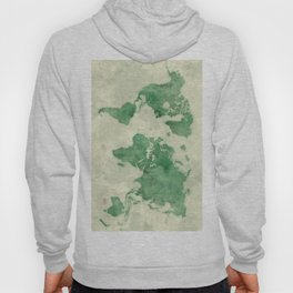 World Map Green Hoody