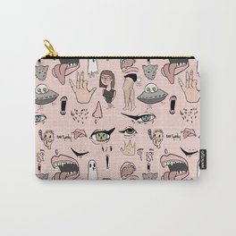 Doodle Print Carry-All Pouch