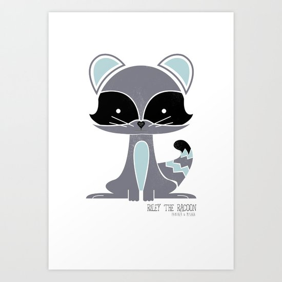 Riley the Racoon Art Print