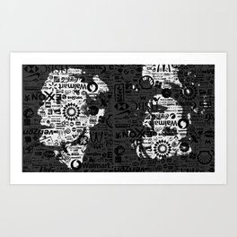 Candy and Andy Art Print