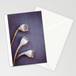 Poppy Seed Heads Stationery Cards