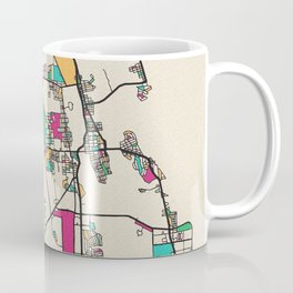 Colorful City Maps: St. Augustine, Florida Coffee Mug