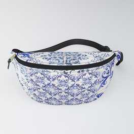 Azulejo VIII - Portuguese hand painted tiles Fanny Pack