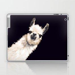 Sneaky Llama in Black Laptop & iPad Skin