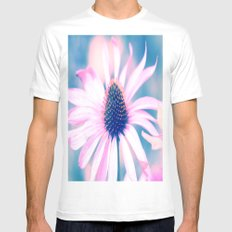 Magic Flower of love and light MEDIUM Mens Fitted Tee White