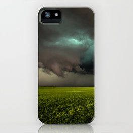 May Thunderstorm - Twisting Storm Over House in Colorado iPhone Case