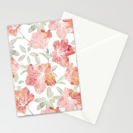 Peach pink azaleas Stationery Cards