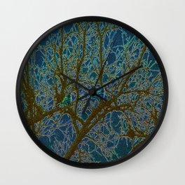 Jeweled Birds In Winter Tree Wall Clock