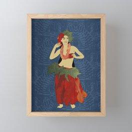 Polynesian Dancer Framed Mini Art Print