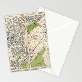 Bacon's Pocket Atlas of London (1921) - 43 South Norwood, Elmer's End, Woodside Stationery Cards