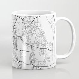 Vientiane City Map of Laos - Light Coffee Mug
