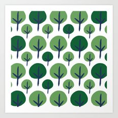 ROUND TREE Art Print