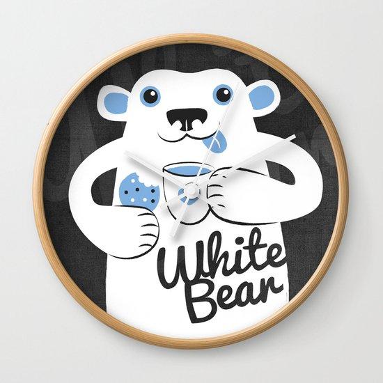 White Bear Wall Clock