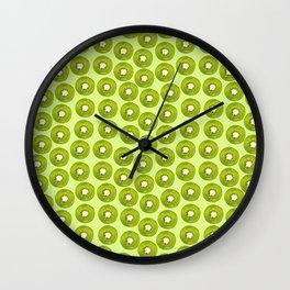 Kiwi Print - Green BG Wall Clock
