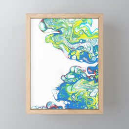 Waves in the Void Framed Mini Art Print