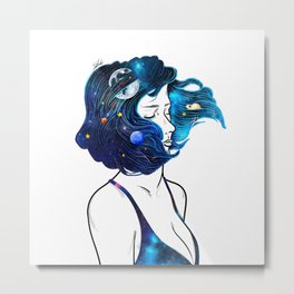 blowing  universe mind. Metal Print