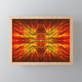 Electric Volcano Sunset by Chris Sparks Framed Mini Art Print