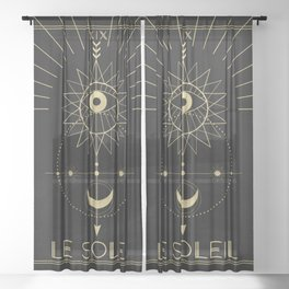 Le Soleil or The Sun Tarot Sheer Curtain