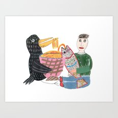 Lamen Bird. Art Print