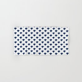 Blue and white Japanese style geometric pattern Hand & Bath Towel