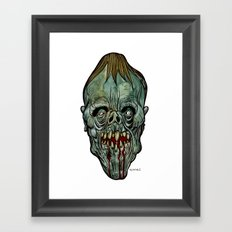 Heads of the Living Dead Zombies: Moon Faced Zombie Framed Art Print
