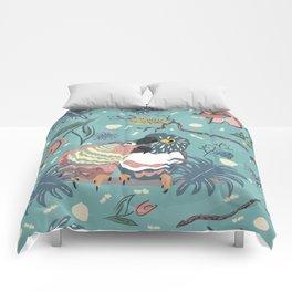 Parrots in Love Comforters