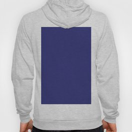 Navy Blue Solid Color Hoody